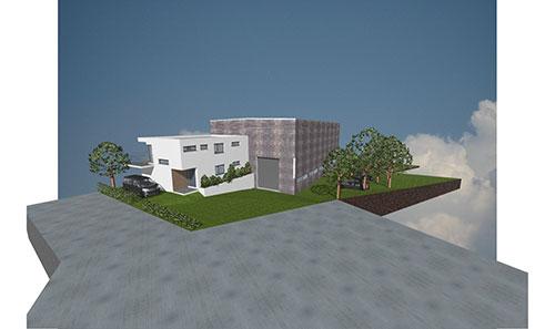 Neubau kranhalle mit b rogeb ude - Architektur kubus ...